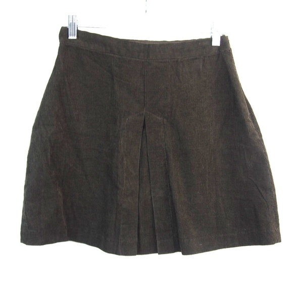 cead801e12f9 Zara Skirts | Basic Pleated Corduroy Flare Mini Skirt | Poshmark